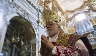 In this Sunday, March 10, 2013, file photo, U.S. Cardinal Sean Patrick O'Malley arrives to the Santa Maria alla Vittoria church in Rome to celebrate Mass. (AP Photo/Domenico Stinellis) ** FILE **