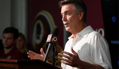 Bruce Allen was fired as team president by the Redskins Monday. Allen was a name that was spoken in reverential tones among the fans when he was hired 10 years ago. (ASSOCIATED PRESS)