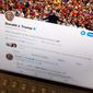 This June 27, 2019, file photo President Donald Trump's Twitter feed is photographed on an Apple iPad in New York. (Associated Press/File)