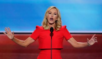 In this July 18, 2016, file photo, Pastor Paula White delivers the benediction at the close of the opening day of the Republican National Convention in Cleveland. White now has a formal role in the administration with the Public Liaison Office, which oversees outreach to constituent groups seen as key parts of the president's base. (AP Photo/J. Scott Applewhite, File)