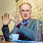 Scientist and author Matt Ridley is photographed during an interview on Friday, April 13, 2012, at St Pancreas Station in London. (Fiona Hanson/AP Images) **FILE**
