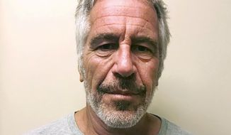 FILE - This March 28, 2017, file photo, provided by the New York State Sex Offender Registry, shows Jeffrey Epstein. House Democrats are asking for documents from federal prosecutors and Florida law enforcement officials as part of a probe into how financier Epstein received a secret plea deal more than a decade ago after he was accused of molesting underage girls.The House Committee on Oversight and Reform on Friday, Dec. 20, 2019, sent a letter to U.S. Attorney General William Barr, asking for all emails about the plea deal and how victims should have been notified. (New York State Sex Offender Registry via AP, File)