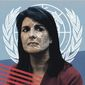 Illustration on Nikki Haley by Linas Garsys/The Washington Times