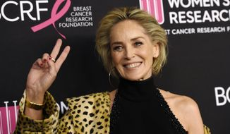 """FILE - In this Feb. 28, 2019, file photo, actress Sharon Stone poses at the 2019 """"An Unforgettable Evening"""" benefiting the Women's Cancer Research Fund, at the Beverly Wilshire Hotel in Beverly Hills, Calif. Bumble said Monday, Dec. 30, it has restored the profile of Stone after she was """"mistakenly"""" blocked from interacting on the dating app. A Bumble spokesperson said in a statement that the company apologized for the confusion. (Photo by Chris Pizzello/Invision/AP, File)"""