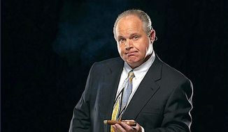 Talk radio host Rush Limbaugh is among the many broadcast talents who have made talk radio itself the top media choice among Americans. (Rush Limbaugh)