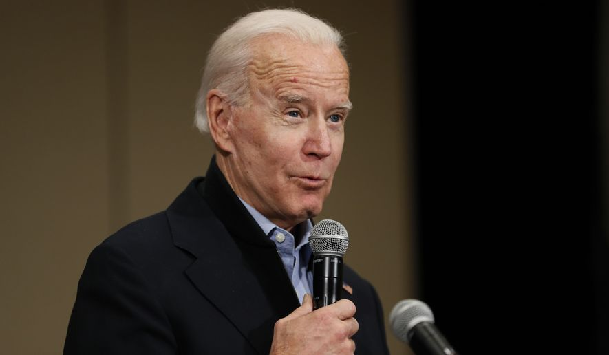 Democratic presidential candidate former Vice President Joe Biden speaks during a community event at the National Motorcycle Museum, Thursday, Jan. 2, 2020, in Anamosa, Iowa. (AP Photo/Charlie Neibergall)