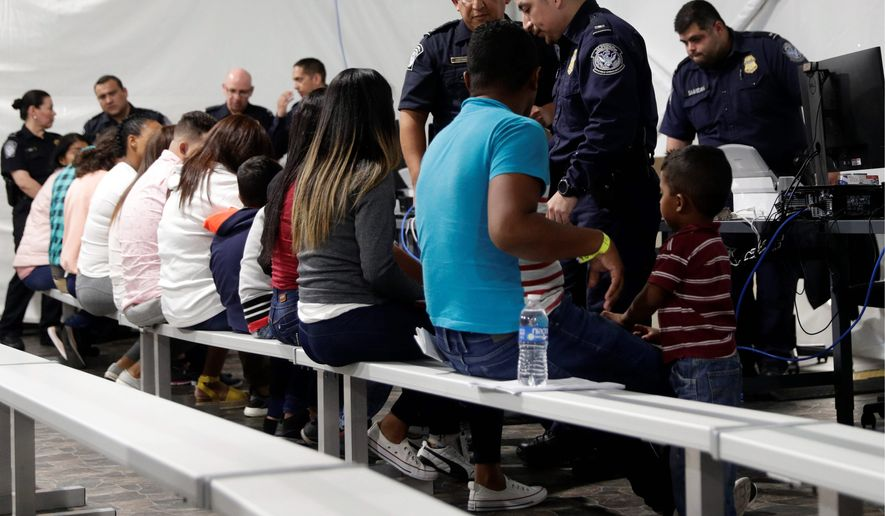 The U.S. has begun sending asylum seekers back to Nogales, Mexico, to await court hearings of their cases under the Homeland Security Department's expanded Migrant Protection Protocols. (Associated Press)