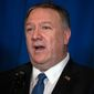 Secretary of State Mike Pompeo said the U.S. is working on several fronts to pressure Iran. (Associated Press)
