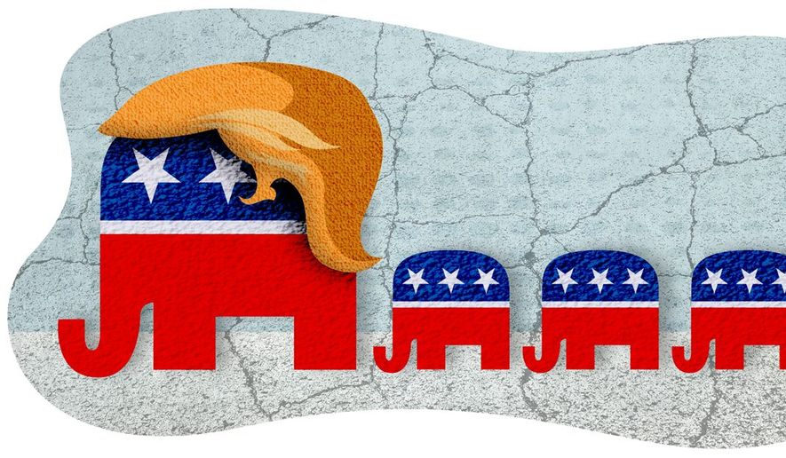 Elephant Parade Illustration by Greg Groesch/The Washington Times