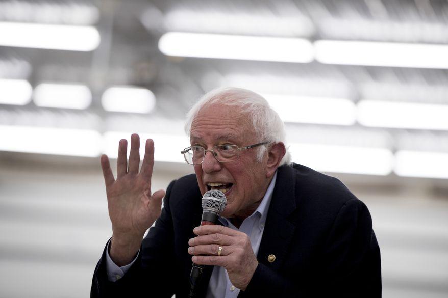 Democratic presidential candidate Sen. Bernie Sanders, I-Vt., speaks at a rally at the Winneshiek County Fairgrounds, Friday, Jan. 3, 2020, in Decorah, Iowa. (AP Photo/Andrew Harnik)
