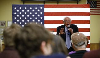 Democratic presidential candidate U.S. Sen. Bernie Sanders, I-Vt., speaks during a campaign event, Friday, Jan. 3, 2020, at the National Motorcycle Museum in Anamosa, Iowa. (AP Photo/Patrick Semansky)