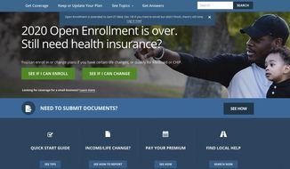 """This screen grab from the website HealthCare.gov shows the extended deadline for signing up for health care coverage for 2020. The Trump administration says people will get more time to sign up for """"Obamacare"""" health insurance following a spate of computer glitches over the weekend. The Centers for Medicare and Medicaid Services says the new HealthCare.gov deadline is 3 a.m. Eastern time on Wednesday, Dec. 18. (Centers for Medicare and Medicaid Services via AP)"""