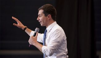 Democratic presidential candidate former South Bend, Ind., Mayor Pete Buttigieg campaigns on Saturday, Jan. 4, 2020, in Nashua, N.H. (AP Photo/Mary Schwalm)
