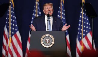 President Donald Trump speaks during a rally for evangelical supporters at the King Jesus International Ministry, Friday, Jan. 3, 2020, in Miami. (AP Photo/Lynne Sladky)