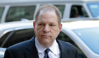 In this July 9, 2018, file photo, Harvey Weinstein arrives for a pre-trial hearing in New York. Weinstein's trial begins Monday, Jan. 6, 2020, more than two years after a torrent of women began accusing him of misconduct. (AP Photo/Seth Wenig, File)