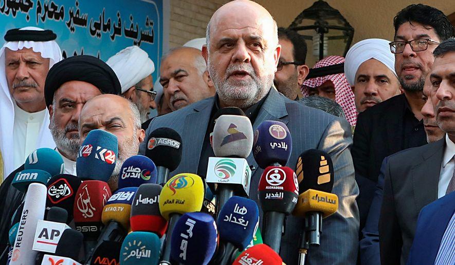 Brig. Gen. Iraj Masjedi as a history of targeting U.S. troops, says Iran's main opposition group. (Associated Press)