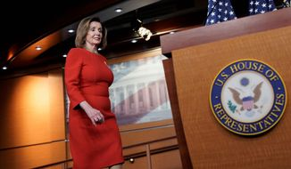 House Speaker Nancy Pelosi announced she will have the House vote on a measure under the War Powers Resolution effectively telling the president to go no further with Iran. (Associated Press)