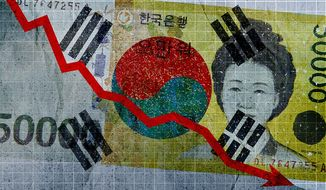 South Korean Corruption Illustration by Greg Groesch/The Washington Times