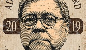 William Barr 2019 Award Illustration by Greg Groesch/The Washington Times