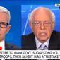 Vermont Sen. Bernard Sanders discusses U.S. foreign policy on CNN, Jan. 6, 2020. (Image: CNN video screenshot)