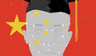 China's social controls illustration by Linas Garsys / The Washington Times