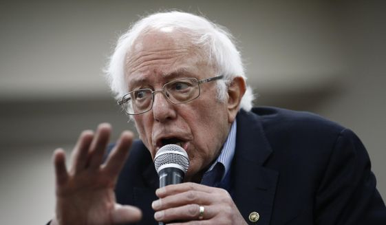 Democratic presidential candidate Sen. Bernie Sanders, I-Vt., speaks during a campaign event, Sunday, Jan. 5, 2020, in Boone, Iowa. (AP Photo/Patrick Semansky)