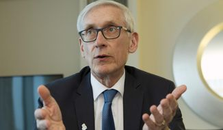 In this Feb. 23, 2019, file photo, Wisconsin Gov. Tony Evers speaks during an interview during the National Governors Association 2019 winter meeting in Washington. (AP Photo/Jose Luis Magana, File)