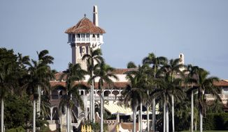 This Nov. 21, 2016, file photo, shows the Mar-a-Lago resort owned by President-elect Donald Trump in Palm Beach, Fla. (AP Photo/Lynne Sladky, File)