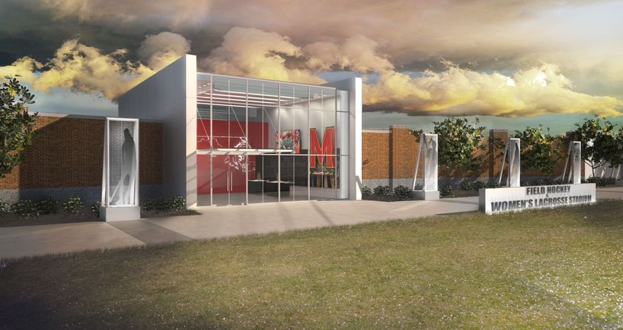 """The University of Maryland athletic department launched the """"Building Champions"""" campaign to raise $25 million for facility upgrades for a host of its Olympic sports programs. (Illustration courtesy of Maryland Athletics)"""