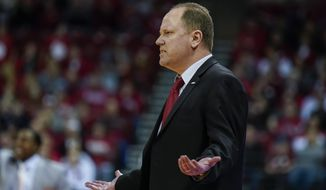 Wisconsin head coach Greg Gard reacts to a call during the second half of the team's NCAA college basketball game against Illinois on Wednesday, Jan. 8, 2020, in Madison, Wis. Illinois won 71-70. (AP Photo/Andy Manis)