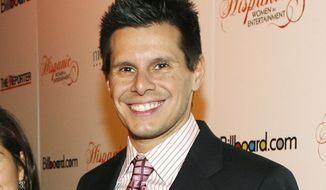 """FILE - This Oct. 9, 2007 file photo shows """"Ugly Betty"""" creator Silvio Horta at the Billboard magazine Hispanic Women in Entertainment breakfast in Los Angeles. Horta died in Miami on Tuesday, Jan. 8, 2020. He was 45.  (AP Photo/Matt Sayles, File)"""
