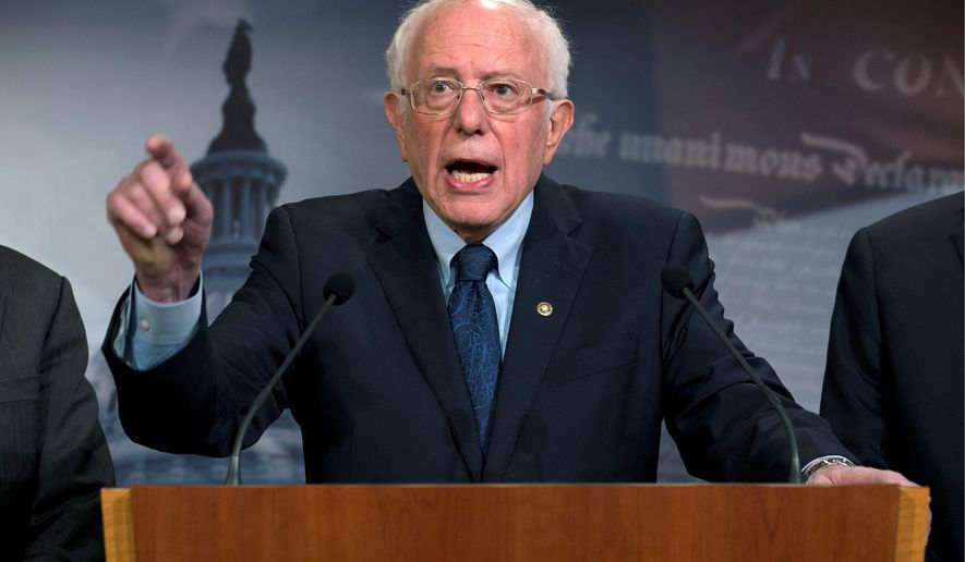 Sen. Bernard Sanders introduced a bill Thursday to try to block the Pentagon from funding a war with Iran without congressional approval. (Associated Press)
