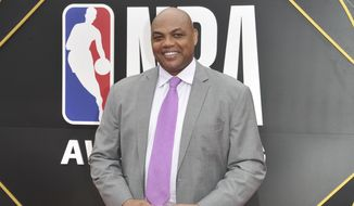 In this June 24, 2019, file photo, Charles Barkley arrives at the NBA Awards o at the Barker Hangar in Santa Monica, Calif. The former Auburn University star and NBA Hall of Famer says he's donating $1 million to Miles College, a historically black institution in Fairfield, Alabama. (Photo by Richard Shotwell/Invision/AP, File)