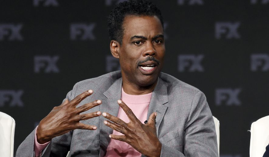 "Chris Rock, a cast member in the FX series ""Fargo,"" discusses the show at the 2020 FX Networks Television Critics Association Winter Press Tour, Thursday, Jan. 9, 2020, in Pasadena, Calif. (AP Photo/Chris Pizzello)  ** FILE **"