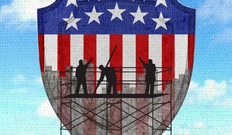 National Security Maintenance Illustration by Greg Groesch/The Washington Times