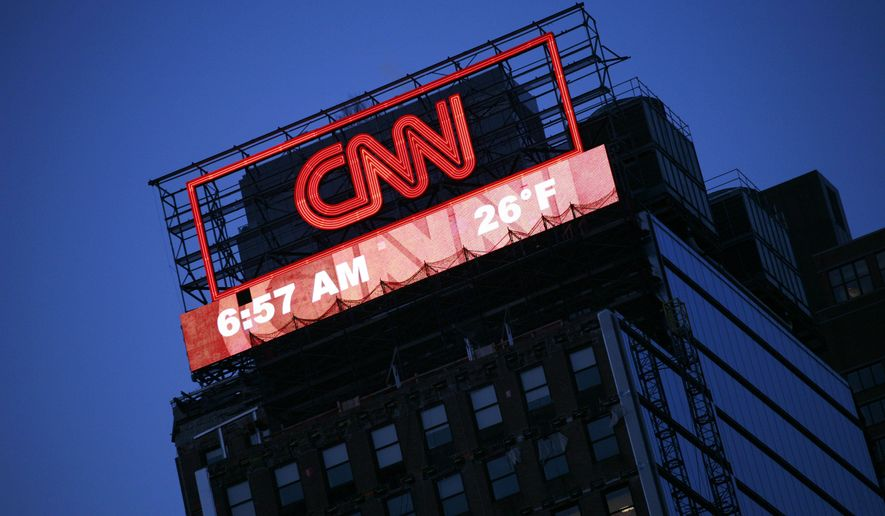 A billboard for CNN is shown Monday, Feb. 1, 2010, in New York. (AP Photo/Mark Lennihan) ** FILE **