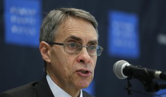 In this Thursday, Nov. 1, 2018, file photo, Kenneth Roth, Human Rights Watch's executive director, speaks during a news conference in Seoul, South Korea. (AP Photo/Lee Jin-man, File)