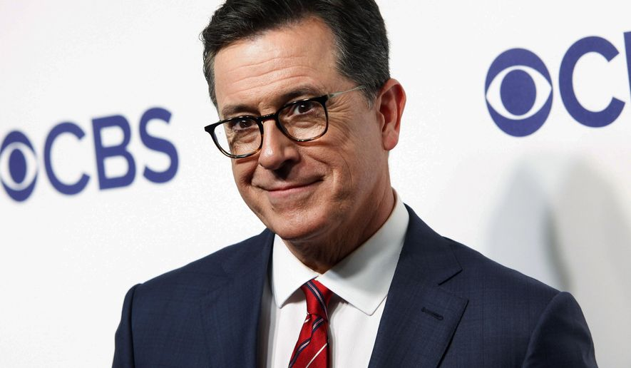 Stephen Colbert attends the CBS Network 2018 Upfront at The Plaza Hotel in New York. (Photo by Andy Kropa/Invision/AP, File)