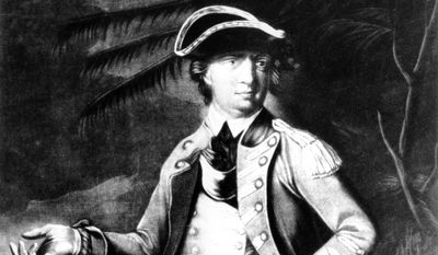 This is an undated sketch portrait of Gen. Benedict Arnold by an unknown artist.  The American soldier joined the colonial forces during the War of Independence, 1775-83, took part in the unsuccessful siege of Quebec, and ultimately fled to the British lines and lived in England until his death in 1801.  (AP Photo/Library of Congress)