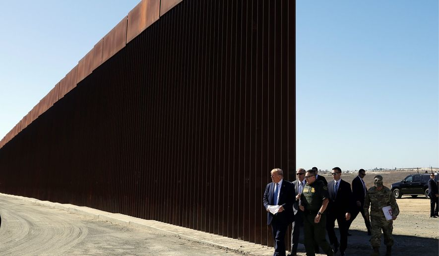 The Trump administration plans to redirect some $7.2 billion in Defense Department money earmarked for construction, health and other military programs for border wall construction. Lawmakers on Capitol Hill expressed frustration with the decision. (ASSOCIATED PRESS)