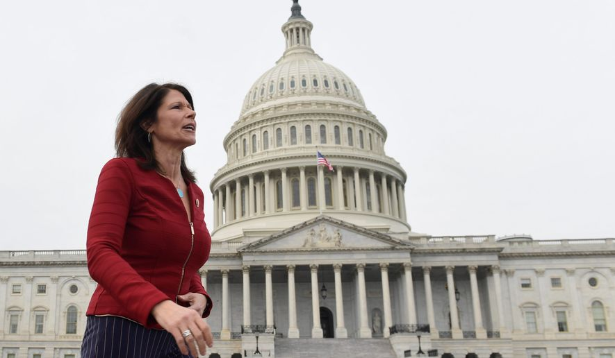 """The people want health care, not impeachment,"" Rep. Cheri Bustos, Illinois Democrat, said. Ms. Bustos is the chairwoman of the House Democrats' campaign arm. She said voters care more about core issues rather than the impeachment proceedings. (ASSOCIATED PRESS)"