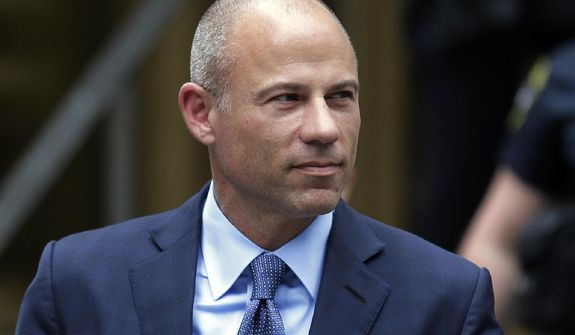 FILE - In this May 28, 2019, file photo, California attorney Michael Avenatti leaves a courthouse in New York following a hearing. Avenatti has been rearrested for alleged bail violations, prosecutors in New York told a judge late Tuesday, Jan. 14, 2020. (AP Photo/Seth Wenig, File)