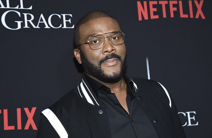 "Writer-director-actor Tyler Perry attends the premiere of Tyler Perry's ""A Fall from Grace,"" at Metrograph, Monday, Jan. 13, 2020, in New York. (Photo by Evan Agostini/Invision/AP)"