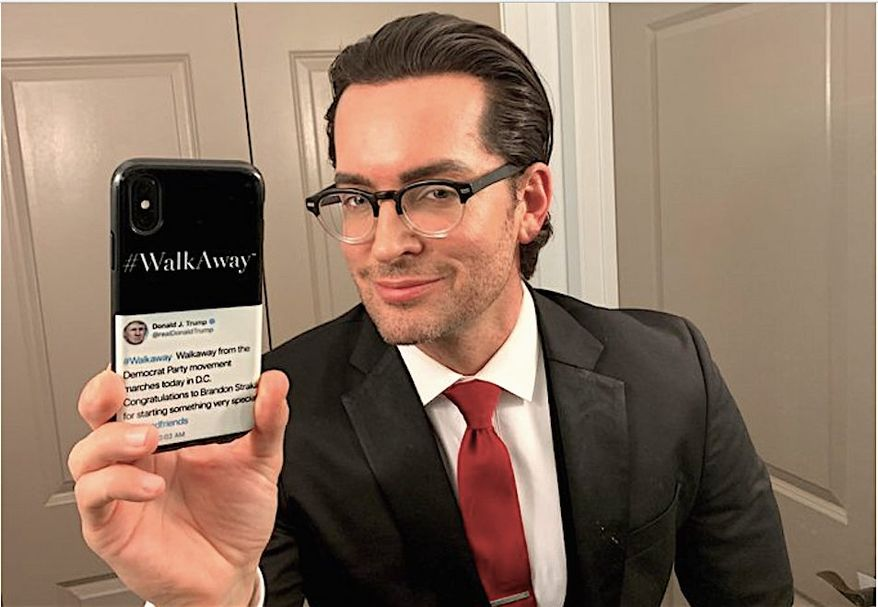 """Brandon Straka is founder of the WalkAway Campaign, which lends a hand to Democrats who are ready to """"walk away"""" from their party. The group is planning an """"Unsilent March on Washington"""" in the fall. (Brandon Straka)"""