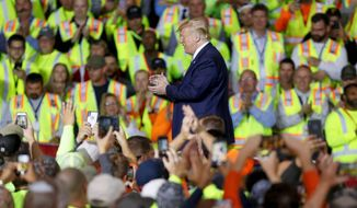 President Trump has been rallying voters in an effort to expand his base in Pennsylvania, a crucial electoral state that he won by fewer than 45,000 votes in 2016. He faces long odds for a repeat of the Rust Belt miracle that gave him a White House victory. (Associated Press)