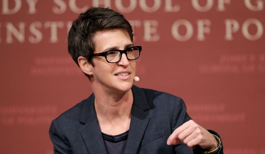 "Rachel Maddow of MSNBC is just one of the news wags who keep shouting ""bombshell!"" regarding supposedly nefarious behavior in Ukraine. (Associated Press)"