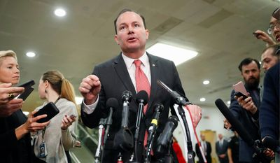 "Sen. Mike Lee, Utah Republican, is one of 15 GOP co-sponsors pushing legislation that the IRS should not categorize abortions as medical care. The ""Abortion Is Not Health Care Act of 2020"" seeks to undo abortions' tax-deductibility. (Associated Press)"