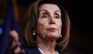 Speaker of the House Nancy Pelosi of Calif., speaks during a news conference, on Capitol Hill in Washington, Thursday, Jan. 16, 2020. (AP Photo/Matt Rourke)