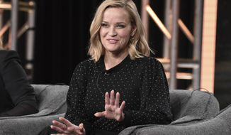 """Reese Witherspoon participates in the Hulu """"Little Fires Everywhere"""" panel during the Winter 2020 Television Critics Association Press Tour, on Friday, Jan. 17, 2020, in Pasadena, Calif. (Photo by Richard Shotwell/Invision/AP)"""