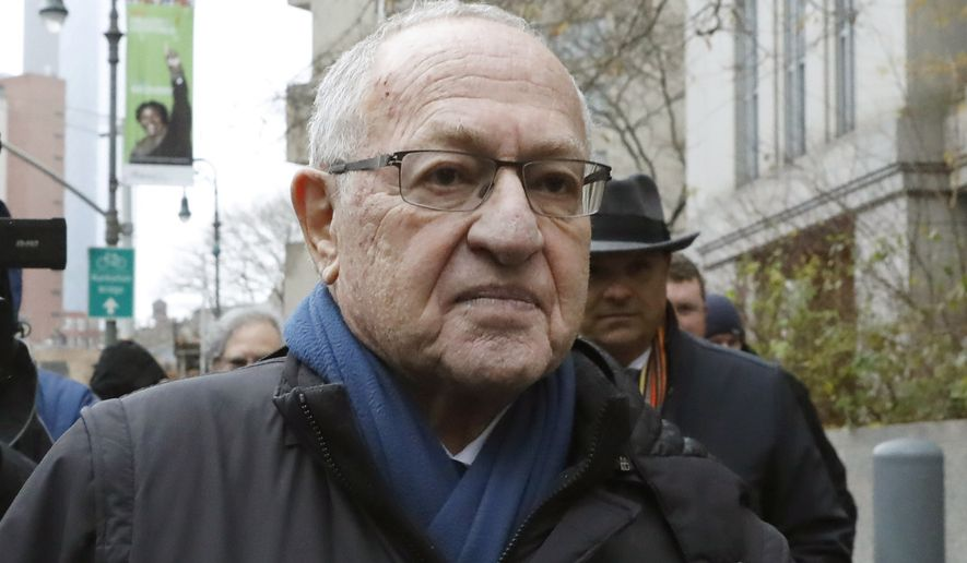 In this Dec. 2, 2019, file photo, Attorney Alan Dershowitz leaves federal court, in New York. President Donald Trump's legal team will include former Harvard University law professor Alan Dershowitz and Ken Starr, the former independent counsel who led the Whitewater investigation into President Bill Clinton, according to a person familiar with the matter. The team will also include Pam Bondi, the former Florida attorney general. (AP Photo/Richard Drew)
